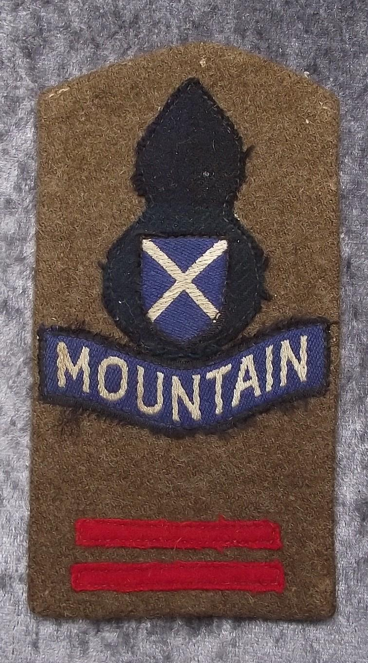 52nd Lowland Infantry Division Combination Formation badges.